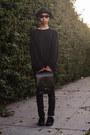 Black-oversized-acne-sweater