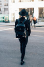 Black-loafers-clarks-shoes-black-fedora-rag-bone-hat