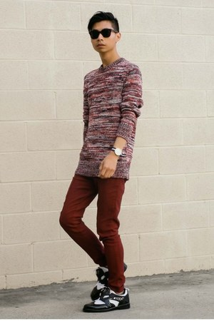 brick red sweater Bolivares sweater
