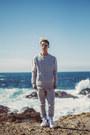 White-platform-palladium-boots-heather-gray-sweater-lapse-sweater