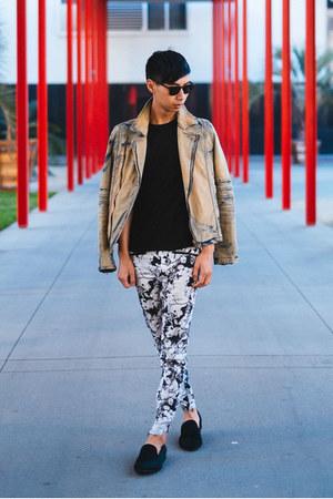 black pony hair Steve Madden shoes - black willard steven alan sunglasses