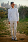 White-zara-shoes-white-american-apparel-jeans-white-baroque-zara-sweater