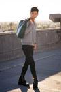 Black-cut-out-balenciaga-boots-teal-paisley-ted-baker-bag