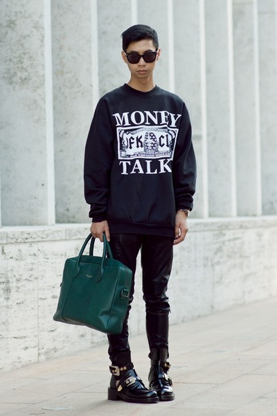 black balenciaga boots - black SPYE x SHICNYC sweater