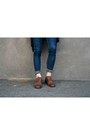 Dark-brown-lace-up-oxfords-mercanti-fiorentini-shoes-heather-gray-sheer-shirt