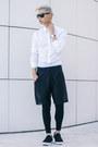 Black-loafers-steve-madden-shoes-white-white-eton-of-sweden-shirt