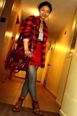 shirt - shirt - skirt - belt - shoes - purse