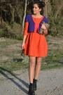 Carrot-orange-h-m-dress