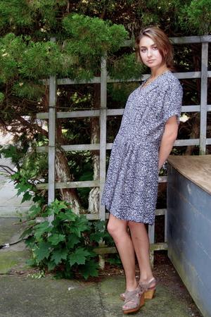 thrifted dress - Zara shoes