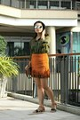 Army-green-top-burnt-orange-zalora-th-skirt-dark-brown-zalora-th-sandals