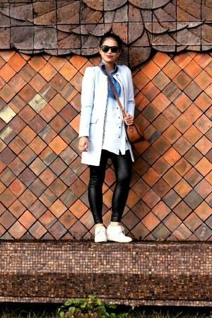 sky blue H&M blazer