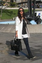 BLANCO blazer - Stradivarius jeans - Parfois bag - BLANCO sneakers