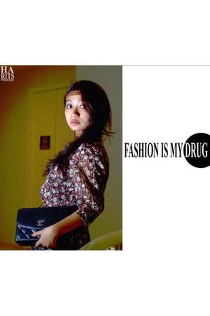 Zara dress - Chanel bag