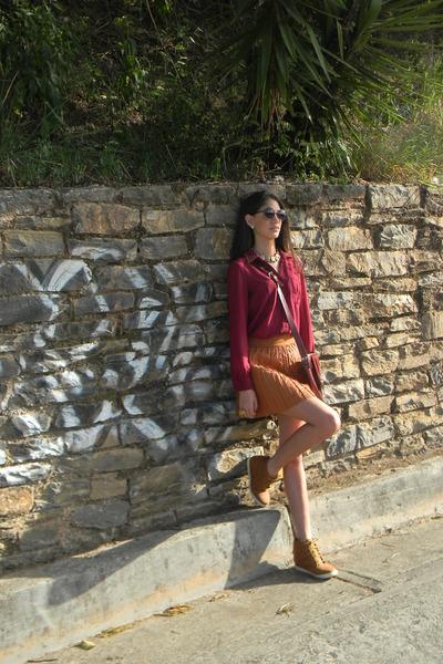 Agaci blouse - Zara skirt - Suite Blanco wedges
