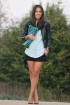 DIY bag - Mango shoes - Stradivarius jacket - pull&bear shirt - H&M shorts