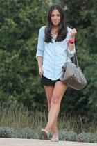 pull&bear shirt - Bimba&Lola bag - H&M shorts - BLANCO flats