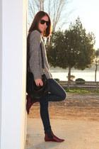 Zara boots - Mango bag - Zara jumper