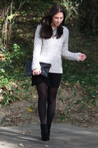 H&M boots - Zara dress - pull&bear sweater - Stradivarius bag