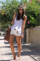 Zara bag - BLANCO shorts - H&M top - Zara sandals