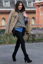 Bershka jacket - H&M boots - Zara sweater - Zara shirt