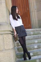 Zara bag - Stradivarius shirt - pull&bear skirt - Mango heels