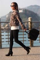 Zara jacket - Topshop boots - Mango bag