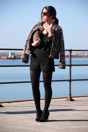 Zara jacket - Zara bag - Zara shorts - Mango bracelet - Mango heels