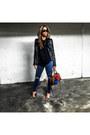 Blue-topshop-jeans-black-zara-jacket-black-brandy-melville-sweater