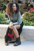 Steve Madden boots - True Religion jacket - small boutique purse - asos skirt