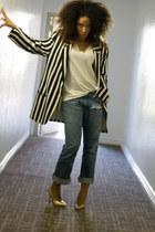 thrift blazer - thrift jeans - Shoedazzle heels