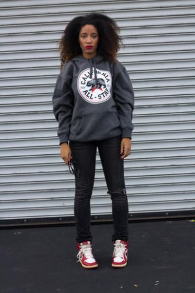 jordan shoes - Target jeans - random hoodie