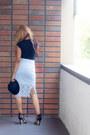 Black-h-m-hat-black-la-made-shirt-light-blue-zara-skirt
