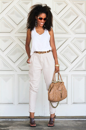 Target shirt - Marc Jacobs bag - Via Spiga heels - f21 pants
