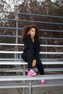 Hot-pink-nike-shoes-black-target-jeans-black-target-sweater
