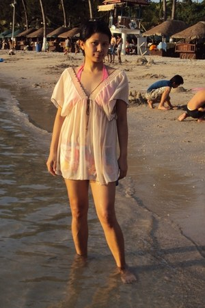 vintage sheer cover up swimwear