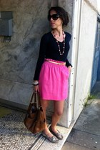 JCrew skirt - JCrew necklace - JCrew top - Cole Haan loafers
