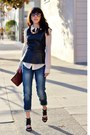 Gap-jeans-tres-noir-sunglasses-piperlime-blouse-topshop-sandals