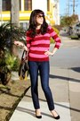 Navy-dl1961-jeans-maroon-jcrew-sweater-pour-la-victoire-bag