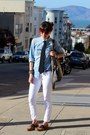 Bronze-steve-madden-shoes-white-paige-denim-jeans-blue-jcrew-shirt