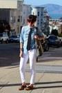Bronze-steve-madden-shoes-white-paige-denim-jeans-blue-jcrew-shirt