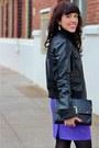 Black-vince-camuto-boots-black-zara-jacket-black-target-bag