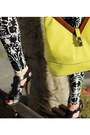 Black-h-m-leggings-yellow-urban-expressions-bag