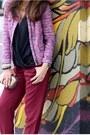 Black-jean-michel-cazabat-pumps-hot-pink-jcrew-jacket-bronze-mms-bag