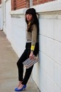Yellow-jcrew-blouse-silver-the-limited-sweater-light-purple-h-m-bag
