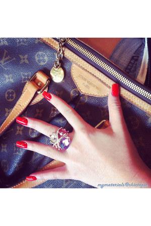 hot pink mrsbussa ring - lv palermo Louis Vuitton bag