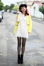 Yellow-sheinside-coat-black-oasap-boots-cream-lace-sheinside-dress