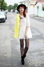 Black-oasap-boots-cream-lace-sheinside-dress-yellow-sheinside-coat
