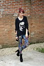 Black-oasap-boots-black-skull-pink-vanilla-leggings
