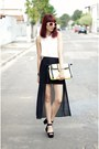 White-lace-sheinside-shirt-yellow-youcom-bag-white-round-zerouv-sunglasses