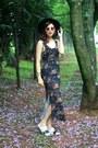 Black-floral-print-rosewe-dress-white-birken-melissa-flats
